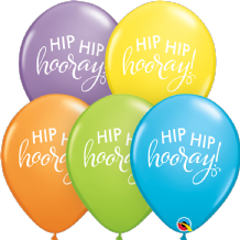 Simply Hip Hip Hooray Balloons (Assorted) - 11 Inch Balloons 25pcs